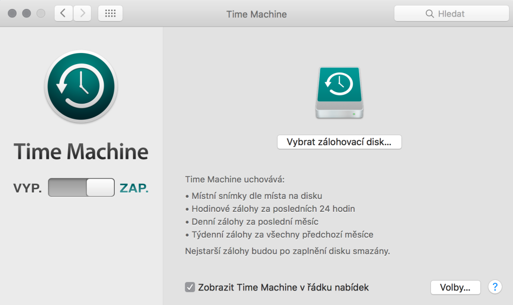 Zaputí Time Machine