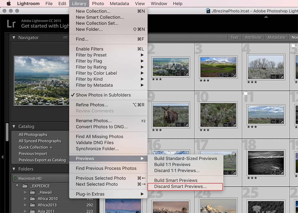Adobe Lightroom Smart Previews
