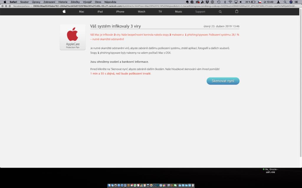 Falešná detekce virů na Macu
